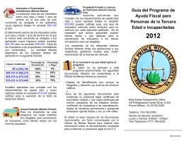 Guía del Programa de Ayuda Fiscal para Personas de la Tercera