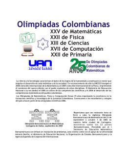 Olimpiadas Colombianas de