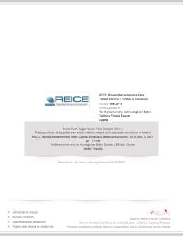 REICE. Revista Iberoamericana sobre Calidad, Eficacia y Cambio