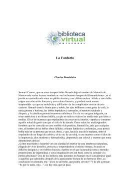 La Fanfarlo - Biblioteca Virtual Universal