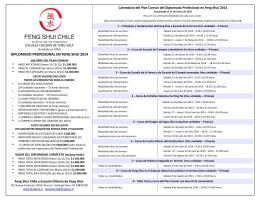 Folleto Diplomado Profesional en Feng Shui 2014