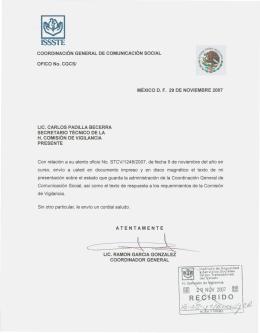 informe a la comisión de vigilancia