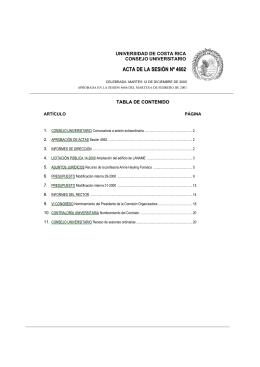 ACTA DE LA SESIÓN Nº 4602 - Consejo Universitario
