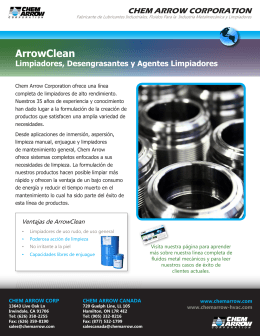 ArrowClean Folleto - Chem Arrow Corporation