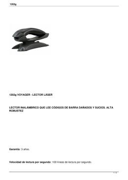 1202g VOYAGER - LECTOR LÁSER LECTOR