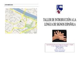 ESTAMOS EN: Agrupación de Personas Sordas de Zaragoza