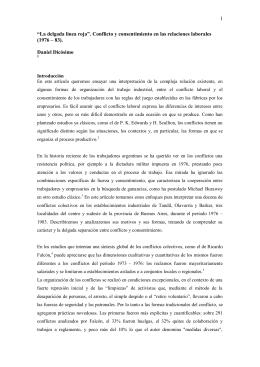 """Daniel Dicósimo, """"La delgada línea roja"""". Conflicto y consentimiento"""