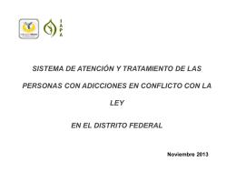 sistema de atención y tratamiento de las personas con adicciones