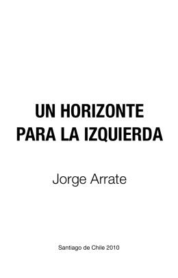 UN HORIZONTE PARA LA IZQUIERDA