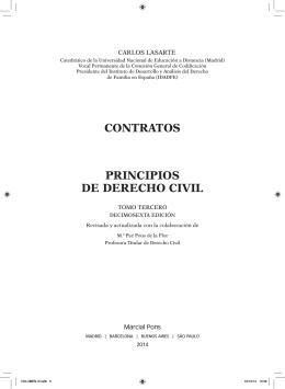 CONTRATOS PRINCIPIOS DE DERECHO CIVIL
