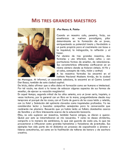 MIS TRES GRANDES MAESTROS - Foro Nicaraguense de Cultura