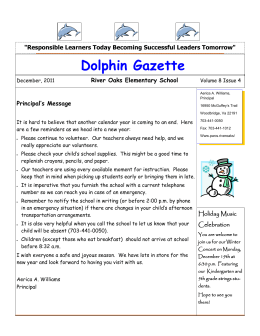 Dolphin Gazette - River Oaks Elementary School