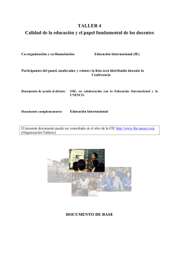 Documento de base - International Bureau of Education