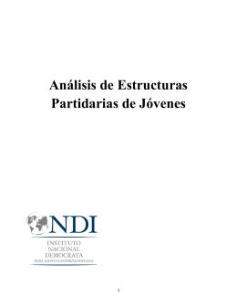 Análisis de Estructuras Partidarias de Jóvenes