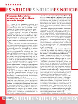noticias breves. - Colegio Oficial de Psicólogos
