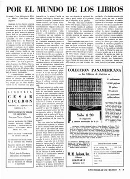 por el mundo de los libros - Revista de la Universidad de México