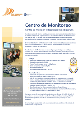 Folleto Centro de Monitoreo 101111 2013.