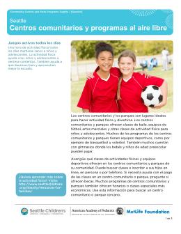 Centros comunitarios y programas al aire libre