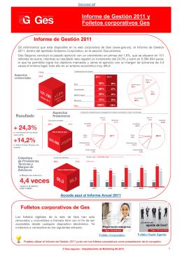 Informe de Gestión 2011 y Folletos corporativos Ges
