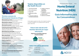 Home Enteral Nutrition (HEN): an information guide for consumers