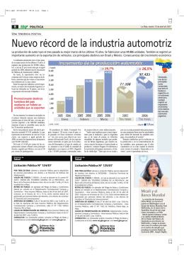 Nuevo récord de la industria automotriz