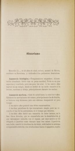 Histerismo Anamnesis fisiológica.