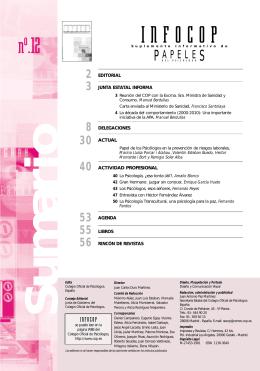 INFOCOP - Colegio Oficial de Psicólogos