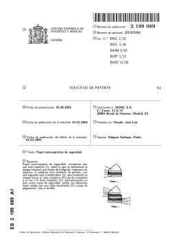 PAPEL AUTOCOPIATIVO DE SEGURIDAD.(ES2199089)