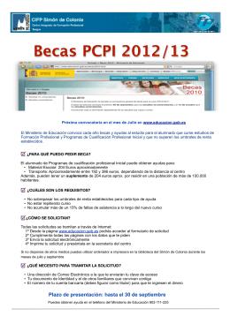 Folleto becas 2012-13 - Centro Integrado de Formación Profesional