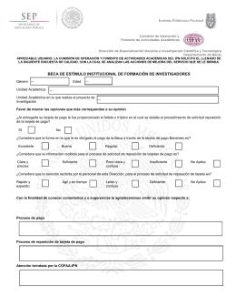 BECA DE ESTÍMULO INSTITUCIONAL DE FORMACIÓN DE