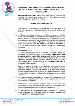 CONCURSO NACIONAL DE DECORACION DE TORTAS