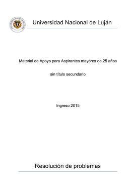 Mayores 25 ingreso 2015 v3 - Universidad Nacional de Luján