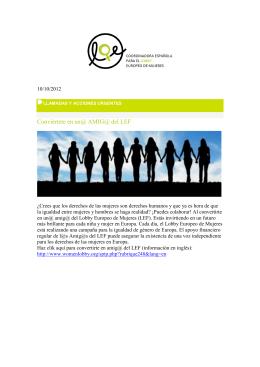 Más información - Coordinadora Española para el lobby europeo de