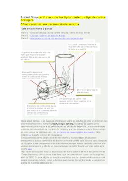 Rocket Stove = Horno o cocina tipo cohete, un tipo