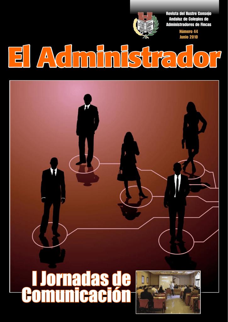 El administrador n 44 colegio de administradores de fincas - Colegio de administradores de fincas de barcelona ...