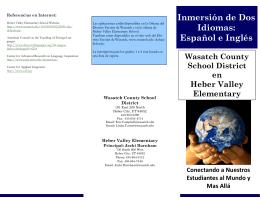 Inmersión de Dos Idiomas: Español e Inglés