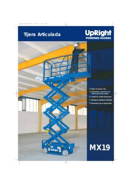 Descargar Catálogo Tijera Articulada MX19