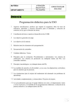 PROGRAMACIÓN DIDÁCTICA ATU 2011-12