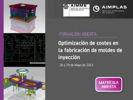 Optimización de costes en la fabricación de moldes de inyección