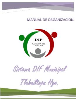 Manual de Organización del Sistema DIF Municipal