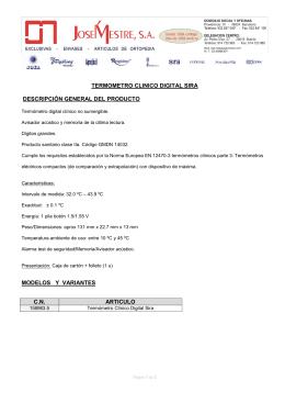termometro clinico digital sira descripción general del producto