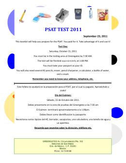 PSAT TEST 2011