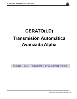 CERATO(LD) Transmisión Automática Avanzada Alpha