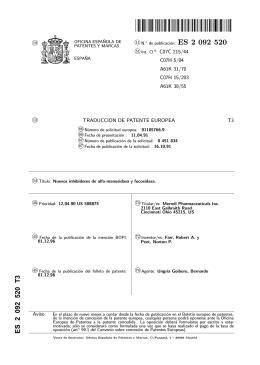 NUEVOS INHIBIDORES DE ALFA-MANOSIDASA Y FUCOSIDASA