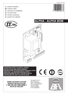 ALPHA - ALPHA BOM - Motorisation Plus