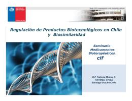 Dra. Fabiola Muñoz - Cámara de la Innovación Farmacéutica de Chile