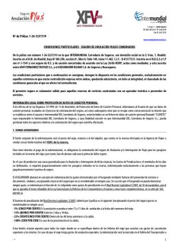 condiciones generales - InterMundial Seguros