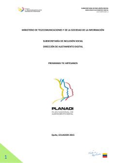 ministerio de telecomunicaciones y de la sociedad de la información