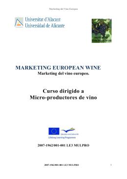 Curso dirigido a micro productores de vino