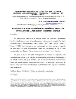 UNIVERSIDAD PEDAGÓGICA Y TECNOLÓGICA DE